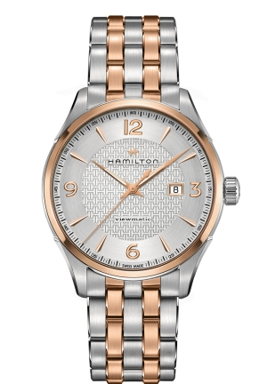 JAZZMASTER VIEWMATIC AUTO ROSE GOLD PVD MEN'S WATCH H42725151, 44MM