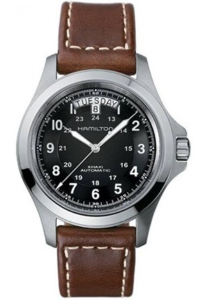 Hamilton Men's Khaki King Black Dial Watch 40mm H64455533