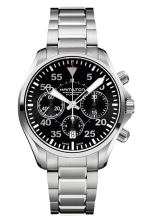 Khaki Aviation Pilot Automatic Chronograph Men's h64666135