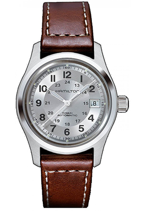 Hamilton Men's Khaki Field Silver Dial Watch 38mm H70455553