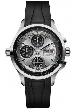 AVIATION KHAKI X-PATROL AUTO CHRONO RUBBER MEN'S WATCH H76566351, 42MM