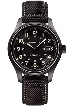 Hamilton Men's Khaki Field Black Dial Watch H70575733 42mm