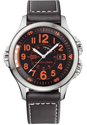 Hamilton Men's Khaki GMT Brown Dial Watch H77695333 43mm