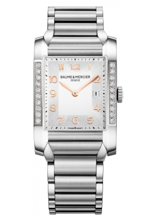 BAUME & MERCIER Silver Dial Stainless Steel Ladies Watch 40.0 mm
