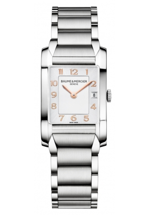 BAUME & MERCIER Hampton Silver Dial Stainless Steel Ladies Watch 34.5 mm x 22.0 mm