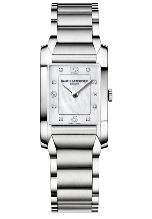 BAUME & MERCIER Mother of Pearl Diamond Dial Ladies Watch 34.5 mm x 22.0 mm