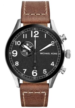 Hangar Men's Brown Leather Chronograph 45mm