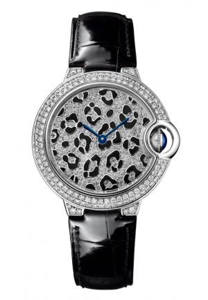 CARTIER BALLON BLEU DE PANTHER SPOTS WATCH HPI01064, 33MM
