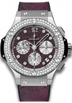 HUBLOT Big Bang Purple Jeans Diamonds 341.SX.2790.NR.1104.JEANS14, 41mm