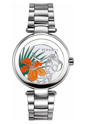 VERSACE Mystique Stainless Steel White Silver Sunray Dial 38mm