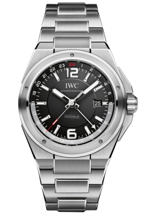 IWC Ingenieur Black Dial Stainless Steel Mens Watch IW324402 43mm
