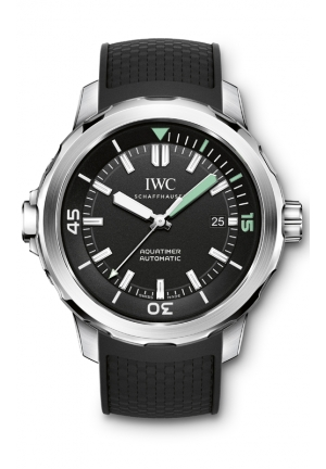 IWC Aquatimer Black Dial Black Rubber Mens Watch IW329001 42mm