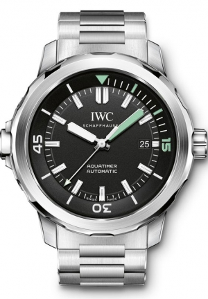 IWC Aquatimer Black Dial Stainless Steel Men's Watch IW329002 42mm