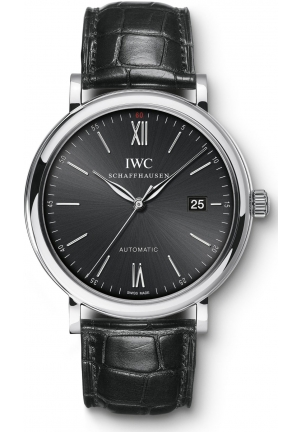 IWC Portofino Automatic Black Dial Watch IW356502 40mm