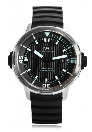IWC Aquatimer Automatic 2000 Black Dial Mens Watch IW358002 46mm