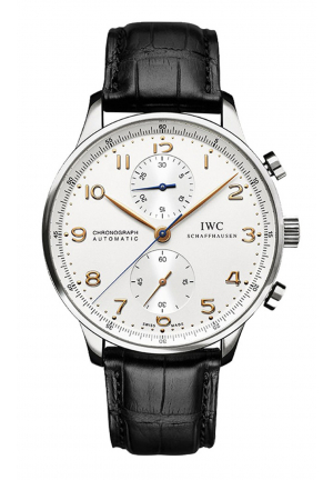 IWC Portuguese Chronograph Silver Dial Men's Watch
