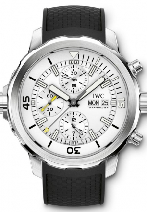 IWC Aquatimer Chronograph Silver Dial Men's Watch IW376801 44mm