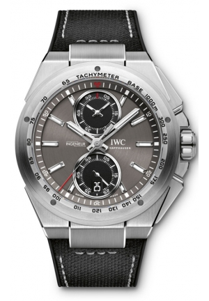 IWC Ingenieur Chronograph Racer Ardoise Dial Rubber Straps Mens Watch IW378507 45mm