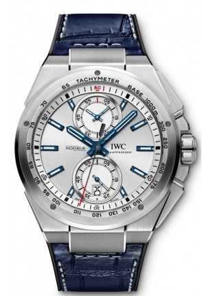 IWC Ingenieur Chronograph Racer Silver Dial Rubber Strap Men's Watch IW378509 46mm