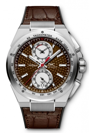 IWC Ingenieur Chronograph Silberpfeil Brown Dial Leather Strap Automatic Mens Watch IW378511 45mm