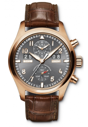 IWC Pilot Spitfire Perpetual Calendar Digital Date-Month Rose Gold Mens Watch IW379105