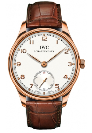 IWC Portuguese Automatic White Dial Brown Leather Mens Watch IW545409 44mm
