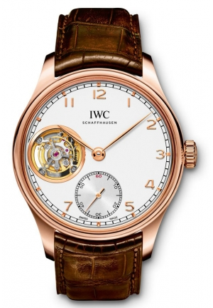 IWC Portuguese Tourbillon Hand-Wound Rose Gold Men's Watch IW546302 43mm