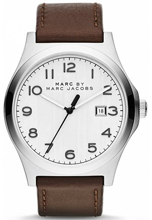 Jimmy Brown Leather Watch 43mm MBM5045