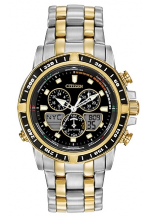 Sailhawk Analog Display Japanese Quartz Two Tone Watch
