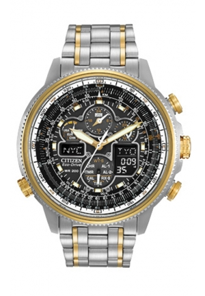 Citizen Men's Navihawk Two-Tone Stainless Steel Eco-Drive Watch