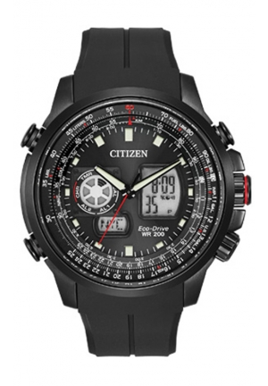 Citizen Men's Promaster Analog-Digital Watch With Black Silicone Band
