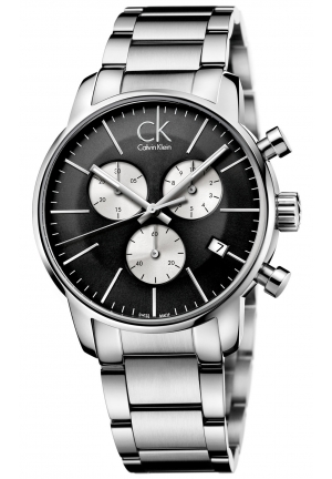 CALVIN KLEIN Men's Swiss Chronograph City Stainless Steel Bracelet Watch 43mm