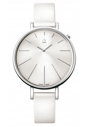 CALVIN KLEIN Equal White Leather Ladies Watch 41mm