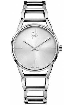 CALVIN KLEIN Women's Swiss Stately Stainless Steel Bracelet 34mm