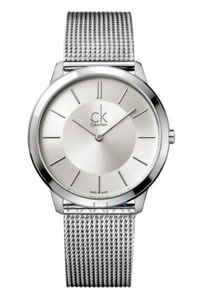 CALVIN KLEIN Men's Swiss Minimal Stainless Steel Mesh Bracelet 40mm
