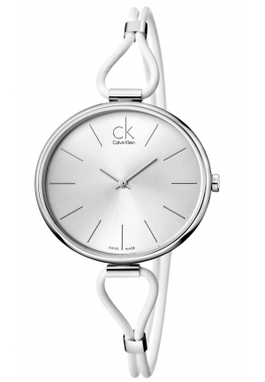 CALVIN KLEIN Women's Swiss Selection White Leather Strap 38mm