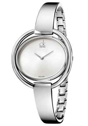 CALVIN KLEIN Women's Swiss Impetuous Stainless Steel Bracelet Watch 40mm