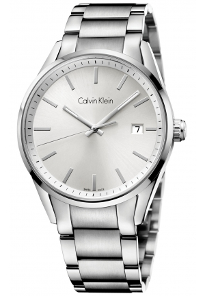 CALVIN KLEIN Men's Swiss Formality Stainless Steel Bracelet Watch 44mm