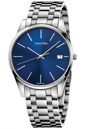 CALVIN KLEIN Men's Swiss Time Stainless Steel Bracelet Watch 40mm
