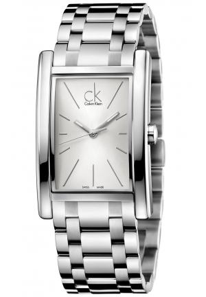 CALVIN KLEIN Men's Swiss Refine Stainless Steel Bracelet Watch 45x30mm