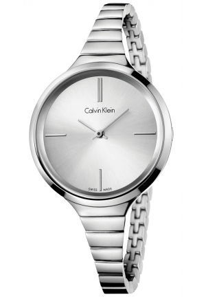CALVIN KLEIN Women's Swiss Stainless Steel Bracelet Watch 34mm
