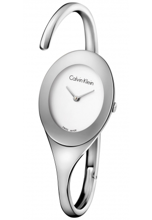 CALVIN KLEIN Women's Swiss Embrace Stainless Steel Bangle Bracelet Watch 32x25mm