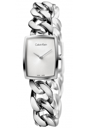 CALVIN KLEIN Women's Swiss Amaze Stainless Steel Link Bracelet Watch 27x22mm