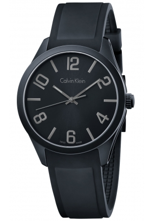 CALVIN KLEIN Men's Swiss Black Silicone Strap Watch 40mm