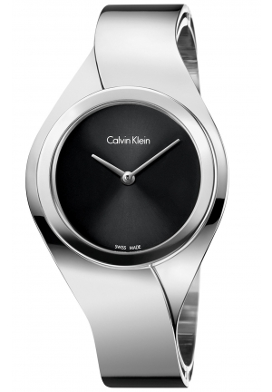 CALVIN KLEIN Women's Swiss Senses Stainless Steel Bangle Bracelet Watch 27mm