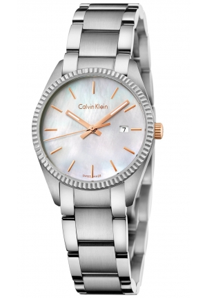 CALVIN KLEIN Women's Swiss Alliance Stainless Steel Bracelet Watch 30mm