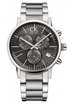 CALVIN KLEIN Men's Swiss Chronograph Post-Minimal Stainless Steel Bracelet 42mm