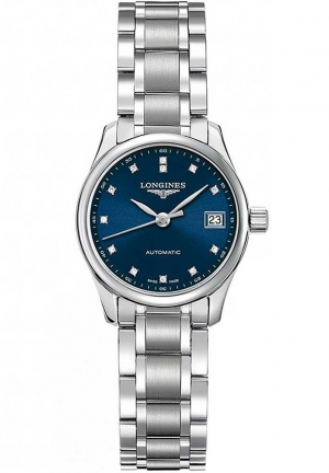 THE LONGINES MASTER COLLECTION 25MM BLUE DIAL AUTOMATIC L21284976, 25MM