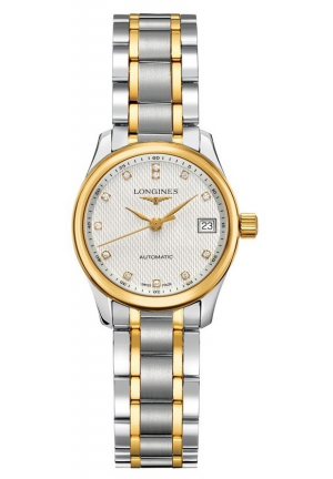 THE LONGINES MASTER COLLECTION STAINLESS STEEL/GOLD 18K AUTOMATIC LADIES WATCH, L2.128.5.77.7 25.50MM