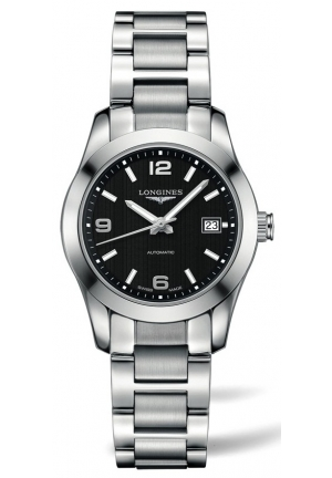 CONQUEST CLASSIC STAINLESS STEEL AUTOMATIC LADIES WATCH L2.285.4.56.6, 29.50MM
